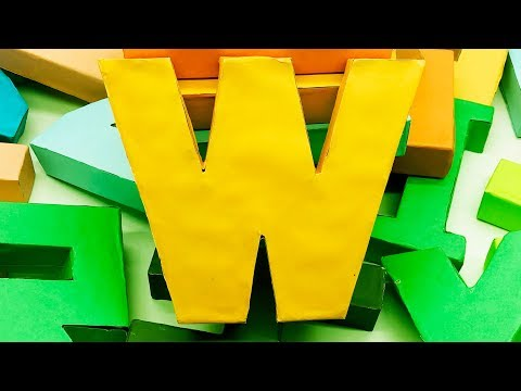 How to Make 3D Alphabet Letters with Paper | DIY Alphabet Letter | 5 Minutes Crafts & Toys