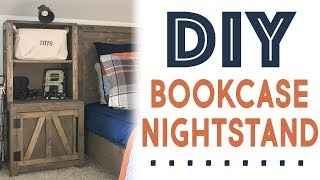 DIY Bookcase Nightstand