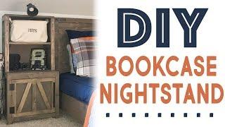 DIY Bookcase Nightstand