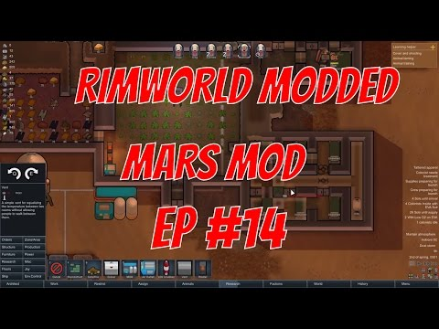 Rimworld alpha 15 mars mod v2 -  #EP 14  - Finishing the bedrooms -  Rimworld mars mod