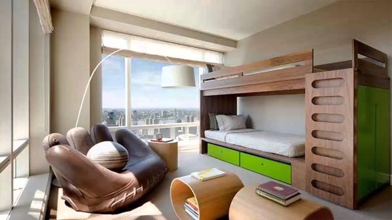 غرف نوم اطفال دورين للمساحات الضيقة