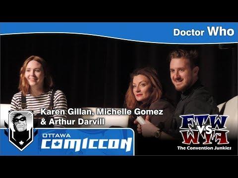 Doctor Who's Karen Gillan, Michelle Gomez & Arthur Darvill  Ottawa ComicCon
