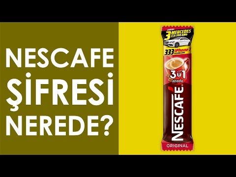 nescafe Şifresi paketin neresinde? - youtube
