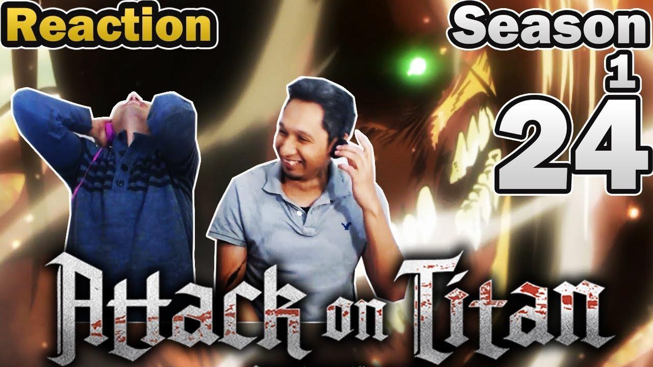 MoC React | Attack on Titan Episode 24 | TRANSFORM EREN ...