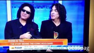 KISS On Today Show 9/10/13 Paul Stanley Gene Simmons