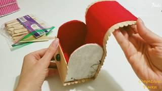 Как сделать шкатулку. Идеи из палочок от мороженого. How to make jewelry box. DIY