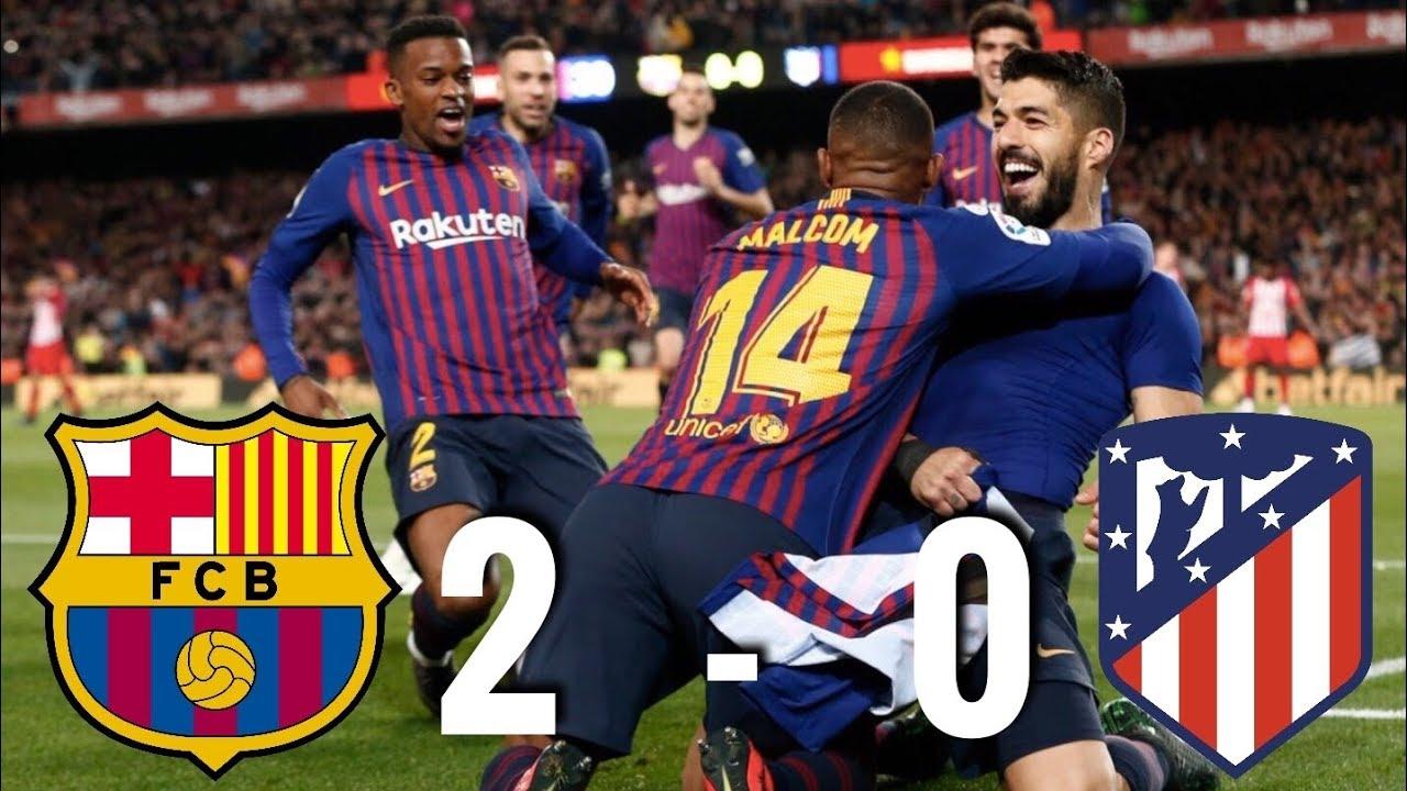 Barcelona Vs Atletico Madrid 2 0 La Liga 2019 Match