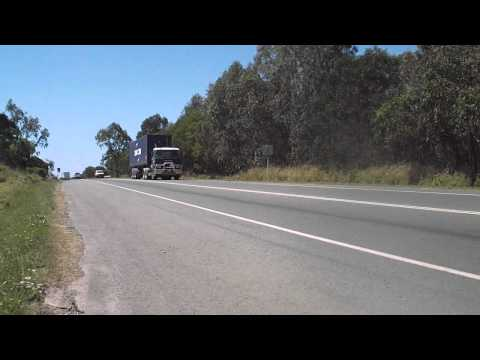 Trucks on the road to the Port of Brisbane