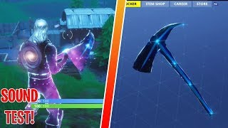NEW STELLAR AXE SOUND TEST | GALAXY SKIN PICKAXE GAMEPLAY | FORTNITE BATTLE ROYALE