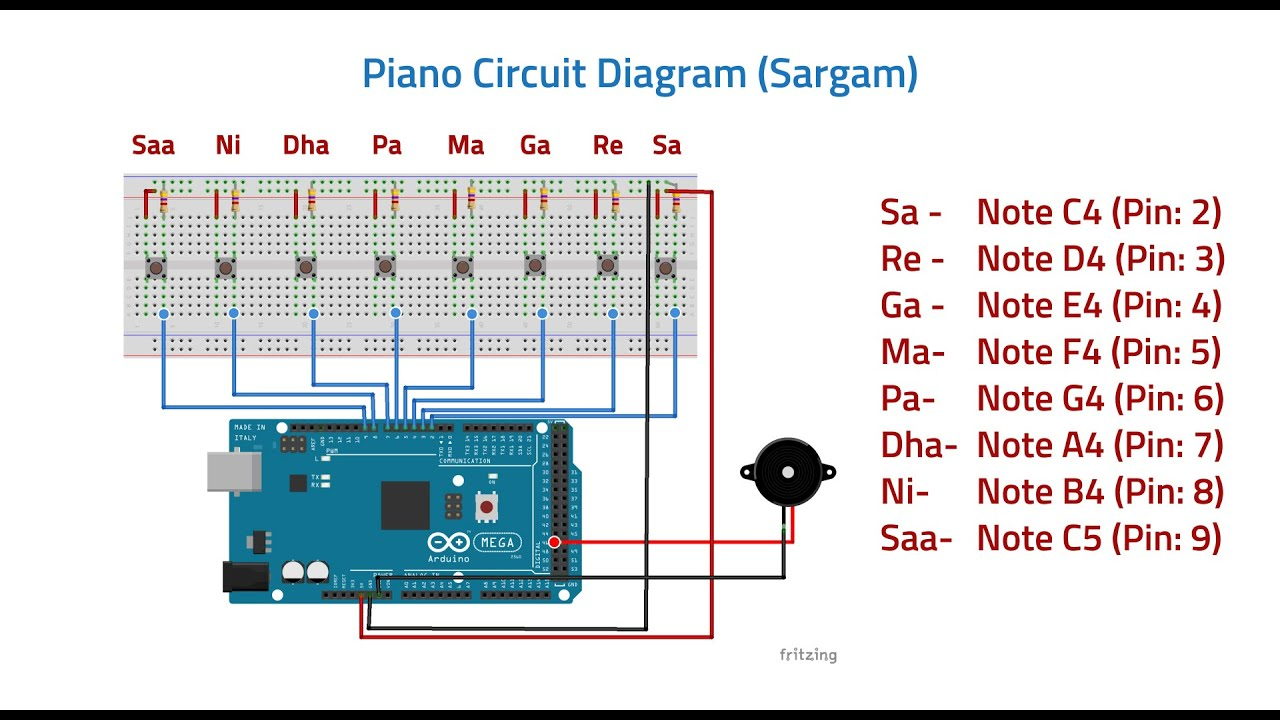 Piano Circuit Design (Sargam) - YouTube