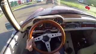 Mercedes-Benz 230SL (1964) on German Autobahn - POV Test Drive