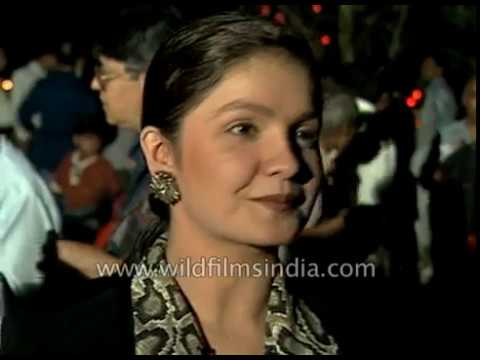 Pooja Bhatt, Indian film director and actor, at an Indian film festival in 1997