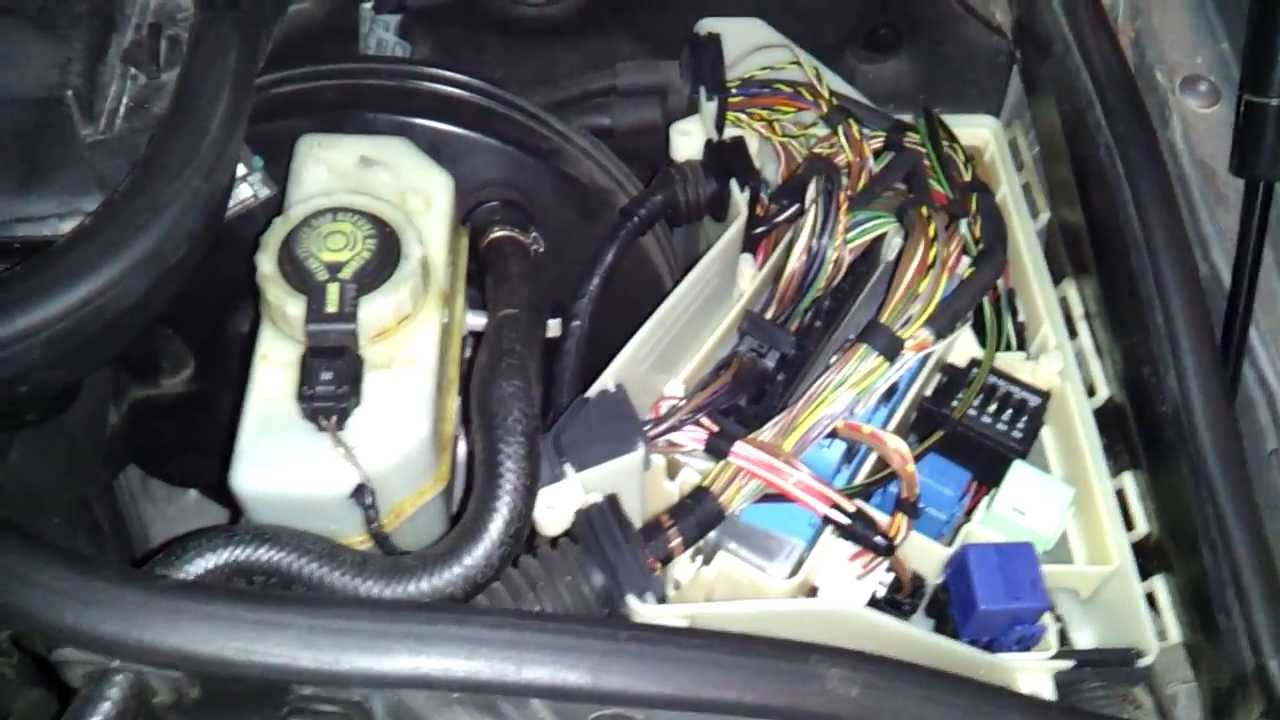 E46 relay box location under hood YouTube