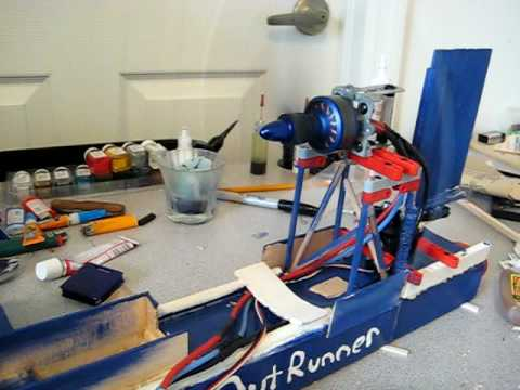 R c airboat blue bullet youtube for How to build an airboat motor