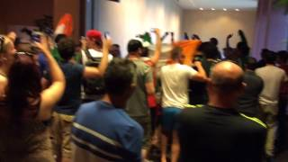 ufc 178 irish fans light up weigh in for conor mcgregor