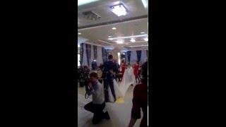Шоу мыльных пузырей на свадьбе