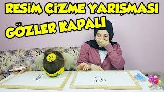 Resim Çizme Yarışması Gözler Kapalı eğlenceli çocuk videosu (istek video)