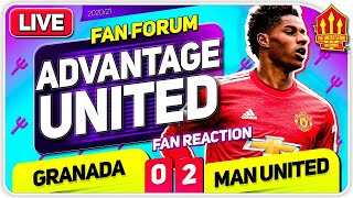 EUROPA SEMI ON DOWNLOAD? Grenada 0-2 Manchester United | LIVE Fan Forum
