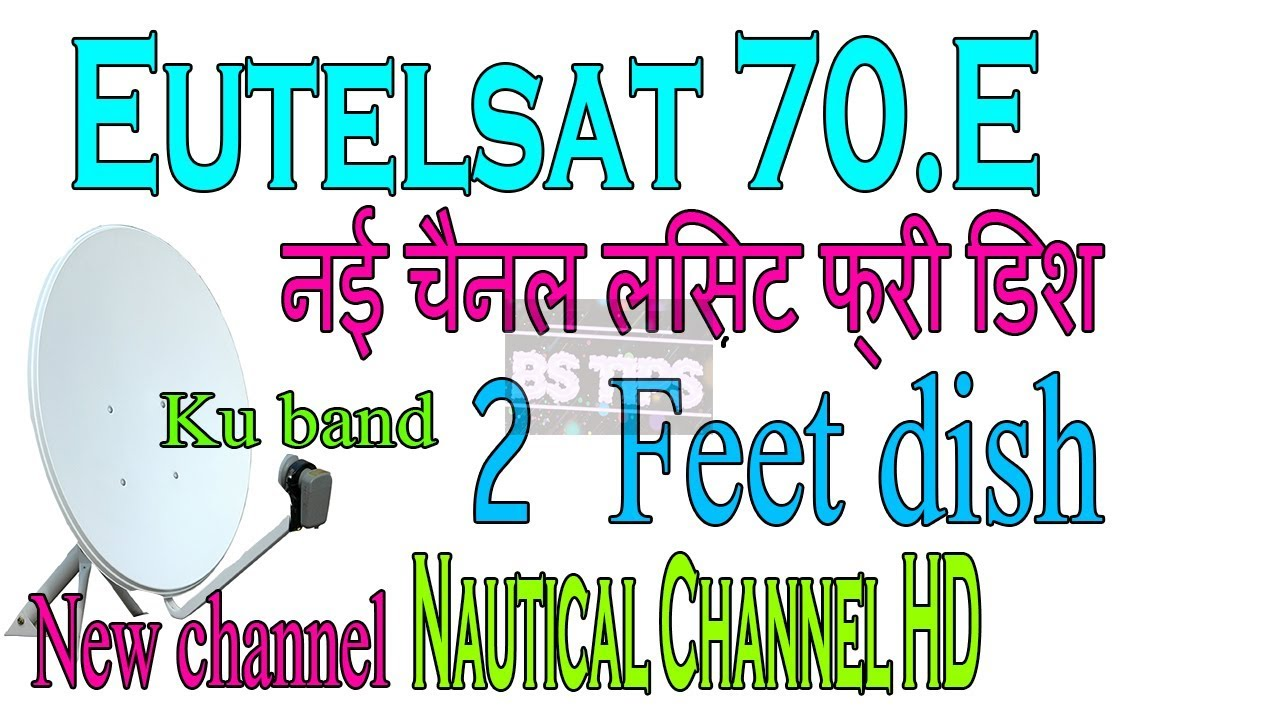 Eutelsat 70 E Latest channel update list Free Dish Set Top Box