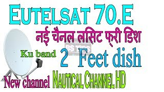 Eutelsat 70 E Latest channel update list Free Dish Set Top Box