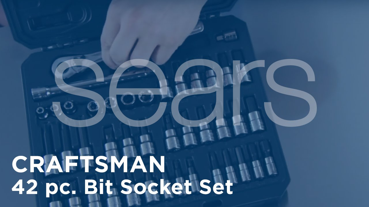 8022a267906 Craftsman 42 pc. Bit Socket Set DRTV - at Sears - YouTube