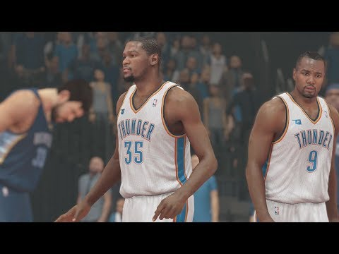 NBA 2K14 (PS4): Memphis Grizzlies vs Oklahoma City Thunder Round 1 - Game 2 Sim