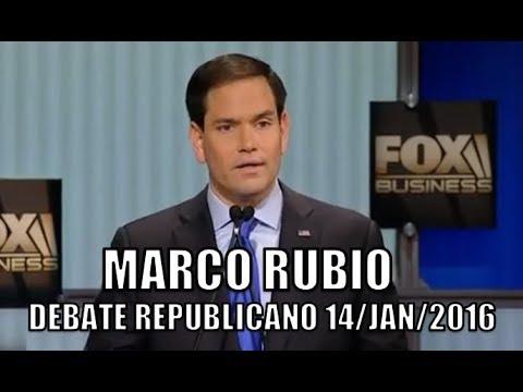 Marco Rubio no debate republicano de 14/01/2016