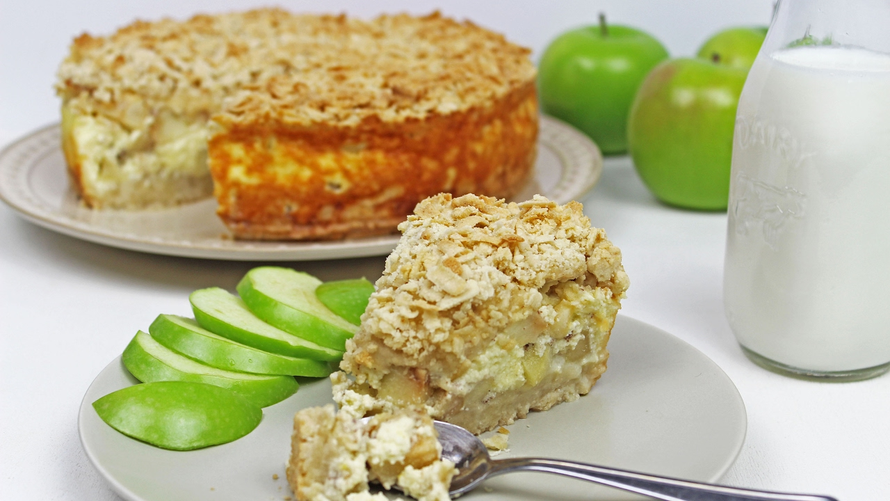 Cottage Cheese Apple Pie | Cottage Cheese Charlotte Recipe ...