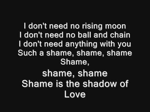Pj Harvey Shame - Lyrics