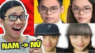 BIẾN CÁC YOUTUBER NAM THÀNH NỮ!!! (Oops Club, NTN, Pewpew, Cris Devil Gamer) (Sơn Đù Vlog Reaction)