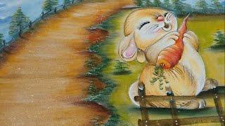 Roberto Ferreira- Pintura Motivo Páscoa ( Coelho e Cenoura ) Parte 2
