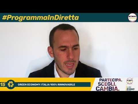 #ProgrammaInDiretta   15  GREEN ECONOMY  ITALIA 100% RINNOVABILE