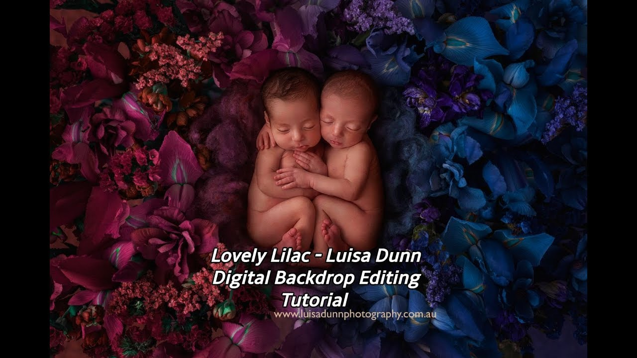 Lovely lilac luisa dunn digital backdrop editing tutorial youtube