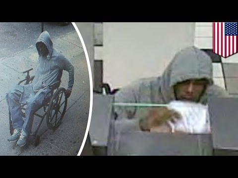 Wheelchair bank robbery: Man rolls away with $3,500 in stolen cash - TomoNews