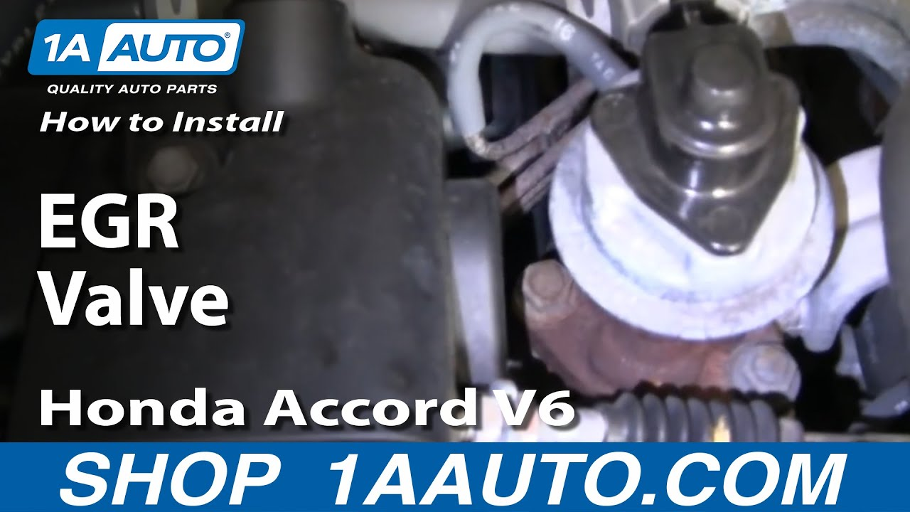 how to install replace egr valve honda accord v6 95 97 1aauto com youtube [ 1920 x 1080 Pixel ]