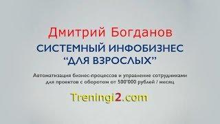 Дмитрий Богданов - Системный инфобизнес Для Взрослых [Тренинги 2]