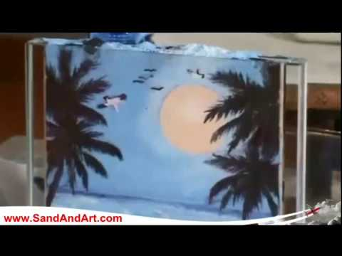 Painting by colored sand art / How to do crafts