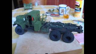 Paper model KrAZ 255B