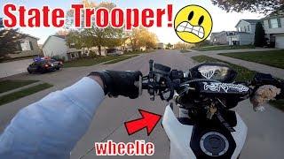 Grom Ventures Ep. 29 - State Trooper vs. Grom Wheelie! | We Are So Lost!