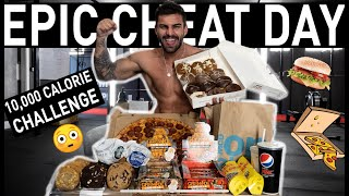 10,000 CALORIE CHALLENGE | EPIC CHEAT DAY |  MAN VS FOOD WITH ADAM COLLARD