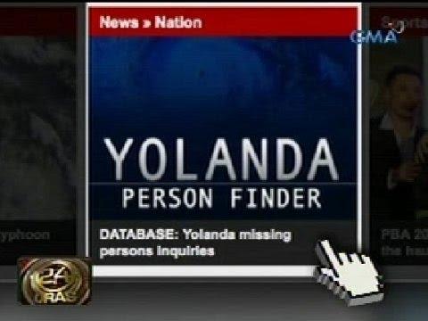 24Oras: 'Yolanda Person Finder' ng Google, pwedeng magamit para mahanap ang mga kaanak