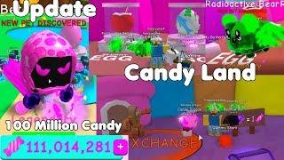 Update! Free Legendary Dominus Pet! Candy Land! 100 Million Candy! - Bubble Gum Simulator