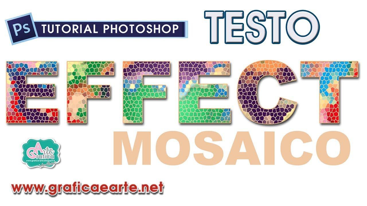 abbastanza TESTO colorato con EFFETTO MOSAICO - Tut. Photoshop 238 - YouTube TK41