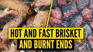 HOT AND FAST Brisket and Burnt Ends on the Kamado Joe | Best Burnt Ends | 4 Hour Brisket