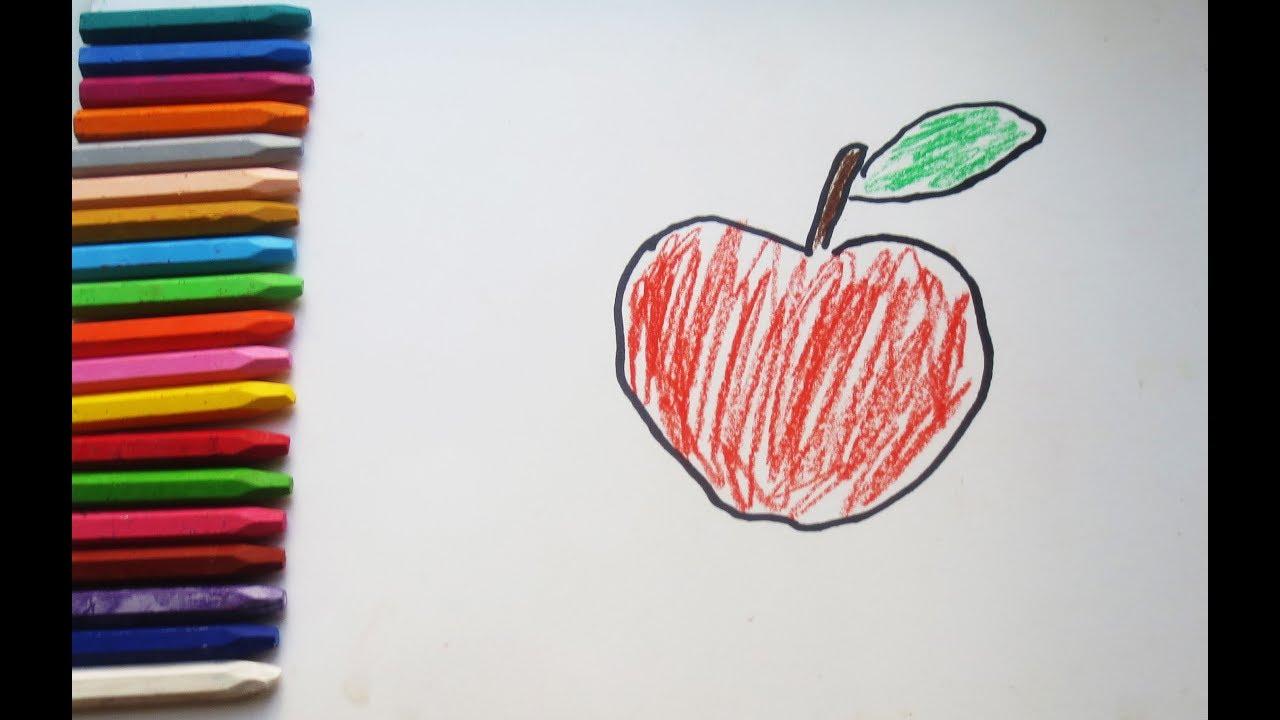 Раскраска для детей Яблоко #яблоко #раскраска #обучашка ...