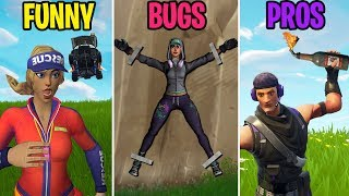 Noob Gets TIED TO A WALL! FUNNY vs BUGS vs PROS - Fortnite Battle Royale Funny Moments