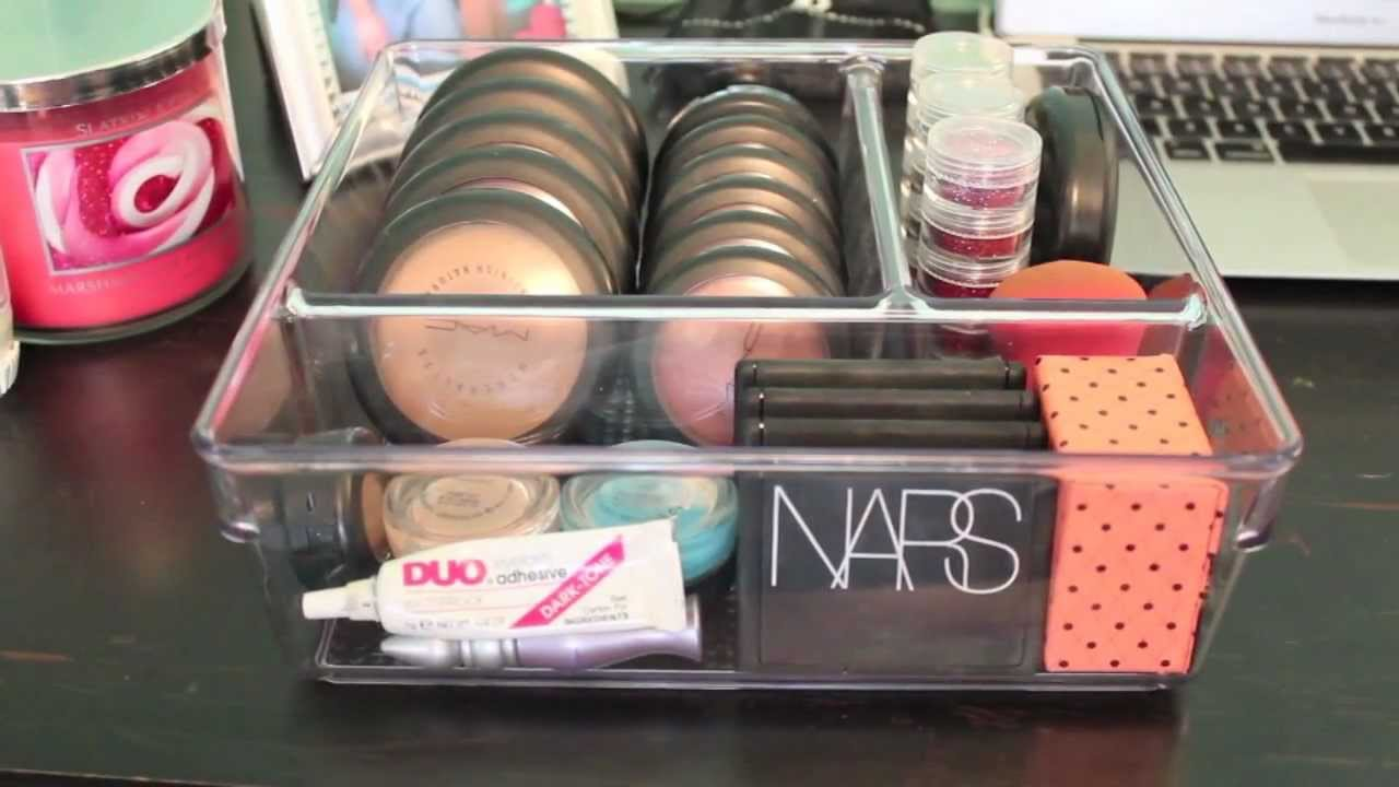 The Affordable Makeup Organizer - YouTube