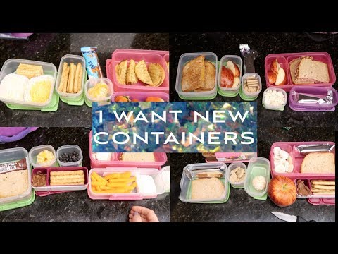 I Want New Containers!  Full Week of School Lunches!