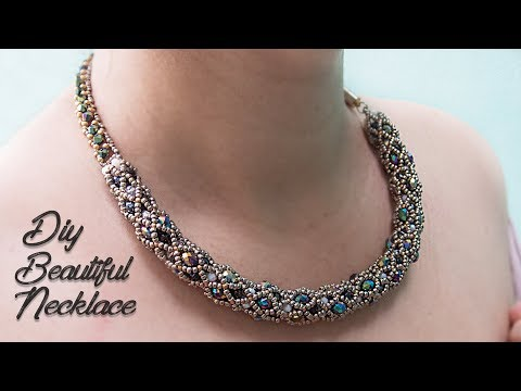 (DIY) HOW TO MAKE NECKLACE | BEADED NECKLACE  | JEWELLERY MAKING