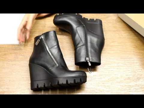 Женские ботинки на высокой платформе